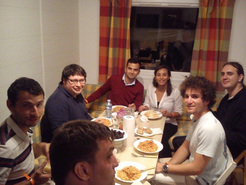 repas du samedi soir, pour la délégation des JDem Aquitaine - et quelques invités